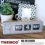 TWEMCO WALL & TABLE CLOCK GRAY 20,520yen