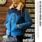 SUGAR CANE COTTON/NYLON PADDING JACKET BLUE 24,624yen
