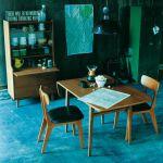 人気のunico 北欧ヴィンテージスタイル KURT(クルト) バタフライテーブル 54,780円