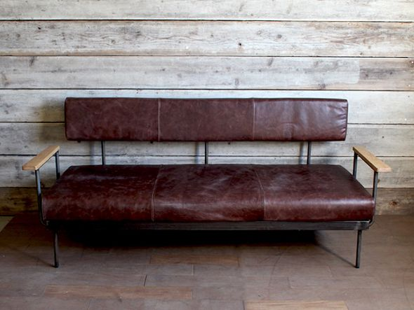 a.depeche molid flat sofa vintage like leather + molid flat sofa arm