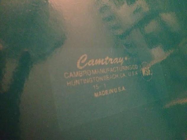 CAMBRO社の刻印入り